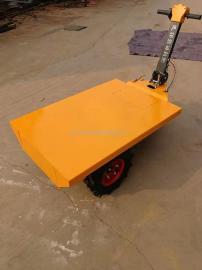 建筑工地拉砖电动平板搬运车