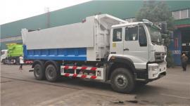 重汽后双桥18吨勾臂垃圾车,垃圾运输车