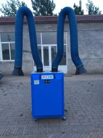 热卖 移动式双工位焊烟净化器 焊接烟尘净化器工业除尘器单双臂式