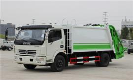 东风多利卡8方后装式压缩垃圾车安全可靠