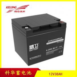 科华蓄电池精卫系列6-GFM-38-YT 12V38AH铅酸免维护蓄电池