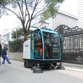 洁乐美全封闭清扫车工厂物业扫路车小区道路扫地车驾驶式扫地机