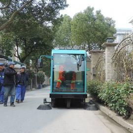 电动全封闭驾驶式清扫车,广场清扫垃圾树叶纸屑物业小区保洁车