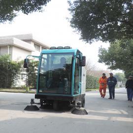 全封闭电动清扫车物业小区学校街道环卫扫地机扫地车扫路机