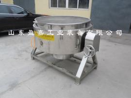 学校食堂炒菜熬粥夹层锅,电加热带搅拌夹层锅