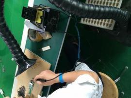 双工位电烙铁排烟机焊锡烟雾净化器吸烟机工业流水线