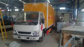 4米2危险废物厢式运输车/2吨废机油运输车