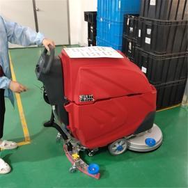 工厂车间环氧地坪油漆地面清洗用手推式电动洗地机凯达仕QX3