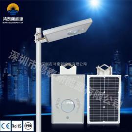 LED低功率高光效太阳能节能一体化路灯 太阳能景观灯 锂电池灯