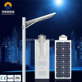 40W LED太阳能一体化路灯 一体化庭院灯 锂电池路灯