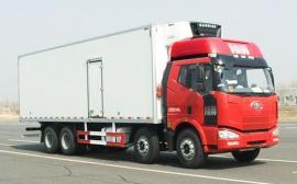 肉钩冷藏车 轨道对接式冷藏车解放J6M9.5米厢长54立方冷藏车