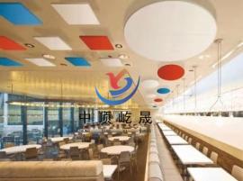 食堂降噪装饰用 岩棉玻纤板 吊顶天花板 屹晟建材出品 垂片