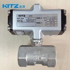 KITZ C-UTE DN10气动丝扣不锈钢球阀KITZ气动阀北泽气动阀总代理