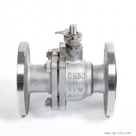 Q41F不锈钢球阀 手动工业法兰球阀 两片式直通常压球阀