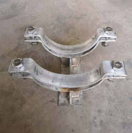 不锈钢T型管托HG/T21629-1999标准J4-1(加筋管夹型)T型管托