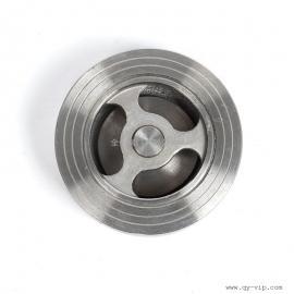 工业阀门国标不锈钢对夹式止回阀 手动常压常温单向阀 逆止阀