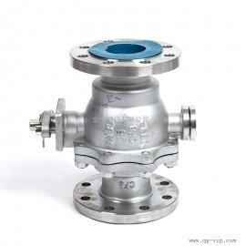 Q347F不锈钢固定球阀 不锈钢手动常温阀 法兰式直通手动球阀