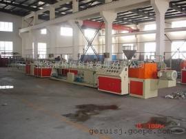 PE塑料单螺杆管材生产线, PE塑料挤出机, 塑料机械挤出机