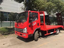 解放虎V6-12吨挖机平板车虎V蓝牌挖机拖车潍柴140马力双簧爬梯