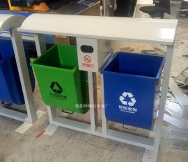 公园垃圾桶、可回收垃圾桶、不可回收垃圾桶