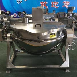 不锈钢可倾夹层锅 电加热夹层锅 定制燃气夹层锅