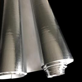 铝箔复合编织布镀铝包装卷膜铝膜编制布工业铝箔纸锡纸1.2米宽