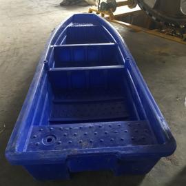 4米新款双层牛筋船塑料渔船河道清理船颜色可定制