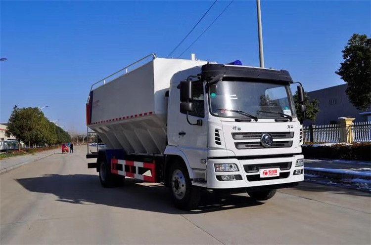 15吨罐装饲料运输车 20吨饲料罐车生产商