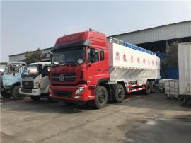 9.6米封闭式饲料运输罐车 运输饲料车代理点