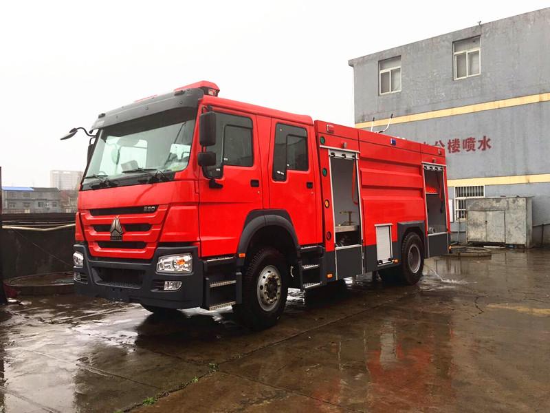 江特牌JDF5204GXFPM80型豪沃8吨泡沫消防车