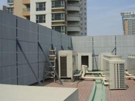 空调声屏障 隔音墙 新力金属生产安装