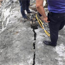 矿山开挖炮锤打不动产量低愚公斧开山机岩石分裂棒