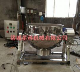 星科600L电加热夹层锅 不锈钢可倾式夹层锅