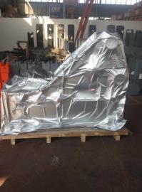 现货定制大型机械设备铝箔防潮立体袋抽真空包装立体袋