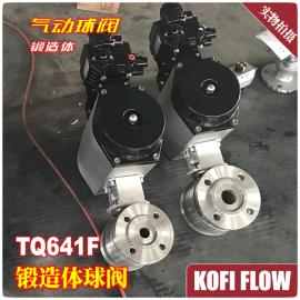 TQ641F-100P RTJ 304锻造不锈钢气动球阀 高压锻钢法兰球阀 阀门