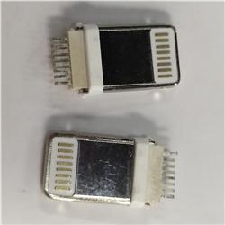 苹果公头 IP5/IP6 夹板公 加长一体 耐高温