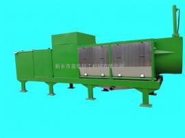 鑫华轻工牌尾菜螺旋压榨机物料接触部分为304不锈钢材质出汁率高