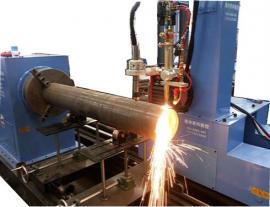 数控八轴五轴小型管道圆管钢管相贯线切割机部位名称
