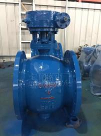 Q347型蜗轮手动偏心半球阀PN16~PN25加工精度高