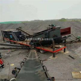 新型移动破碎设备 移动破碎石料车 可移动破碎生产线
