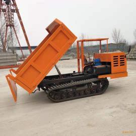 屹工四驱橡胶工程履带自卸车四不像履带翻斗车
