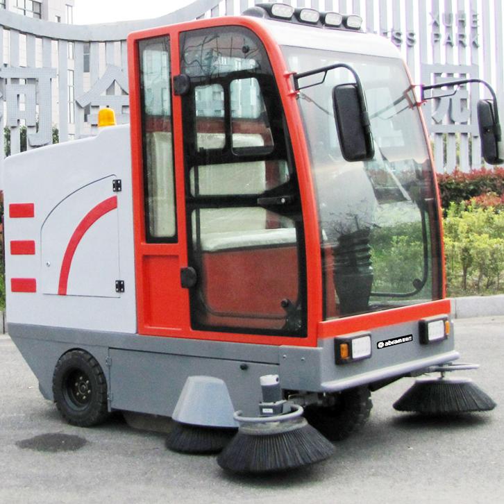 亚伯兰abram扫地车YBL-2000S驾驶式户外密封道路地面清扫车