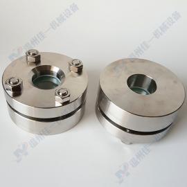 DN40小型法兰对夹视镜 平焊法兰视镜 耐高压不锈钢法兰视镜