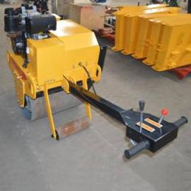 工程道路专用手扶式单钢轮振动压路机