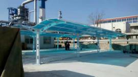 双层保温透明pc阳光板雨棚