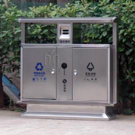 尚绿SL-20不锈钢垃圾桶小区户外分类环保垃圾箱