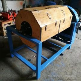 工厂加工定制300L干式木滚筒研磨抛光机产品精抛滚动抛光机