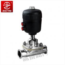 气动卫生隔膜阀 快装卫生级隔膜阀 焊接隔膜阀 快装气动隔膜阀
