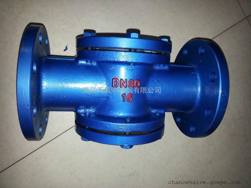 DIN碳钢直通视镜DN65铁法兰试镜WCB铸造阀体四通试窗