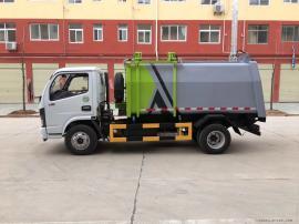 东风多利卡国六3吨挂桶式垃圾车